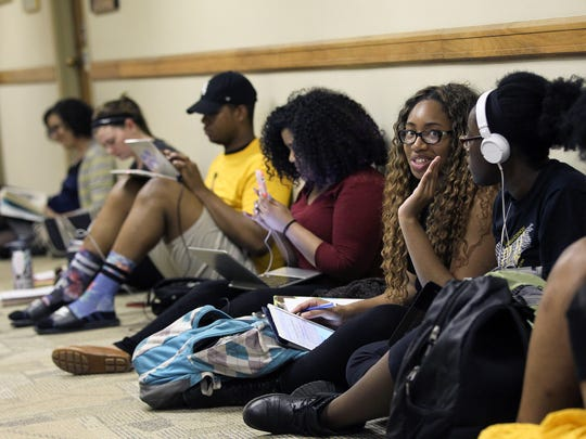 University of Iowa students and community members participate