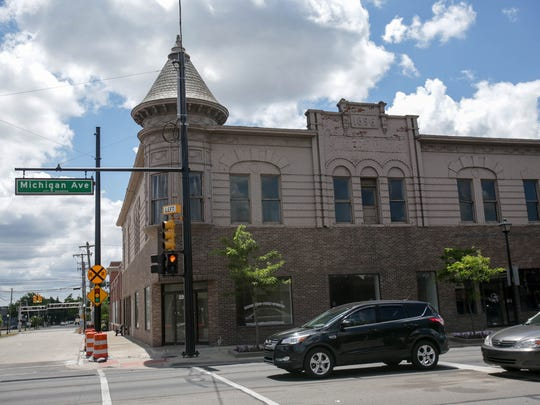 The historic Wagner Hotel at the corner of Michigan Avenue and Monroe street could be saved when Ford Land redevelops the block in west downtown Dearborn.