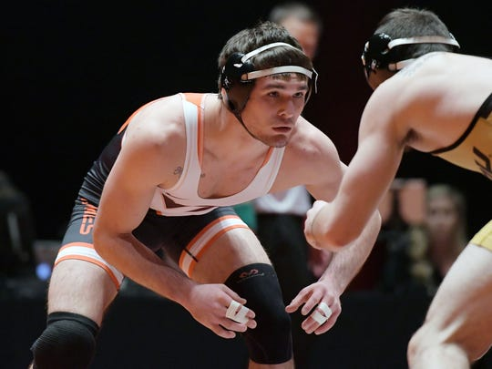 David McFadden of West Milford, a two-time state wrestling champion, is off to another impressive start at Virginia Tech.