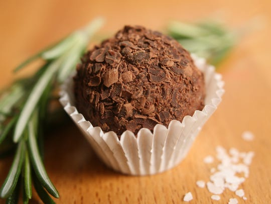 Rosemary Sea Salt truffle from Pete's Chocolate Co.,