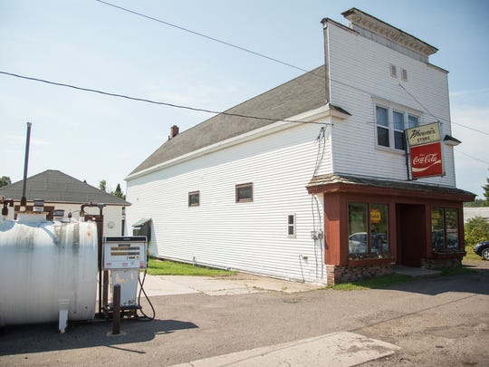 The Phoenix Store, built in 1873, is the lone remaining business in the former mining town of Phoenix in Michigan's Keweenaw Peninsula.