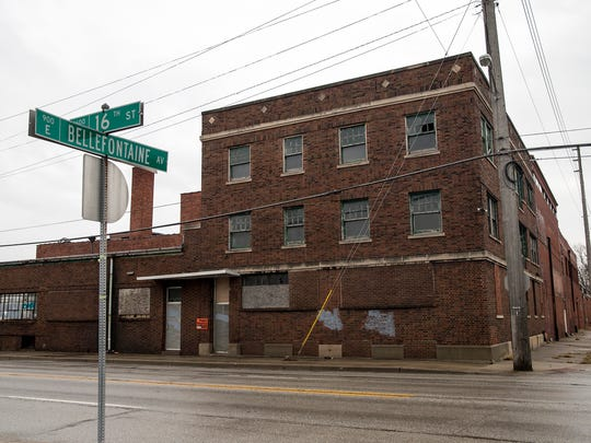 The structure at 16th Street and Bellefontaine Avenue in Indianapolis, which once housed Omar Bakery, seen Thursday, Feb. 15, 2018. The building will soon be demolished.