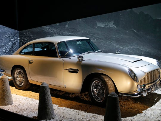 "An Aston Martin DB5 from the James Bond film ""Goldfinger"""