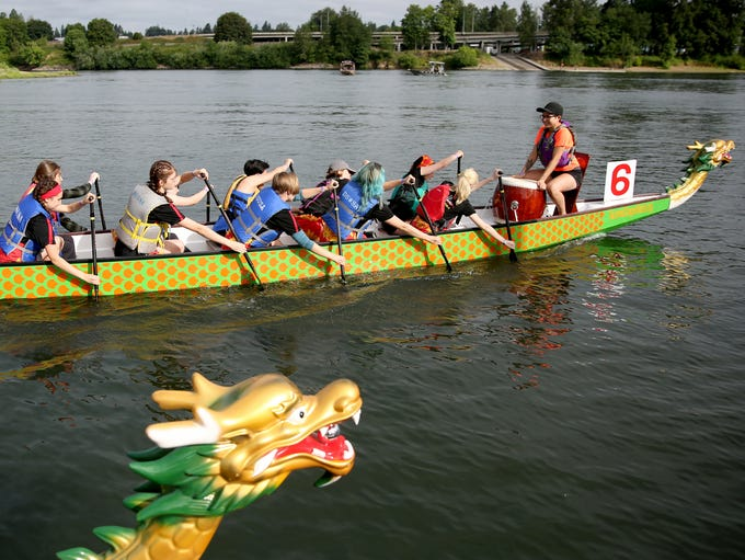 The Dragon Boat Races, part of the the World Beat Festival,