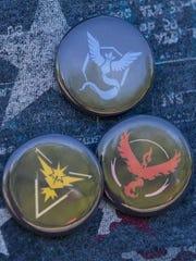 Logos from the three Pokemon Go teams.