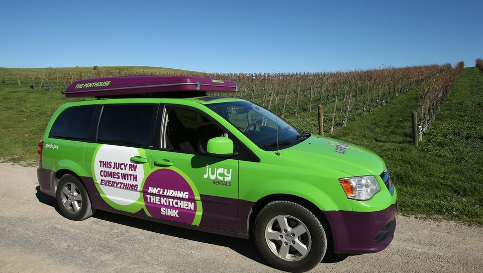 Jucy minivans feature many of the amenities found in