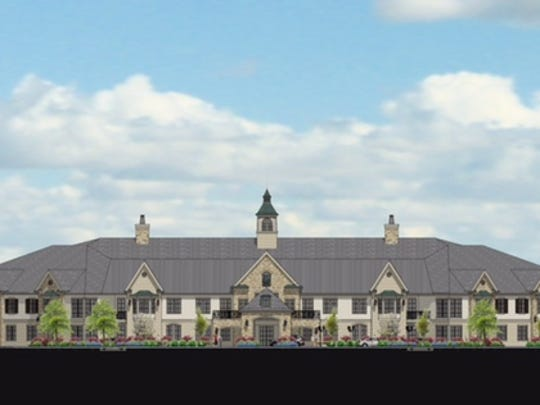 This rendering shows the concept for the skilled nursing