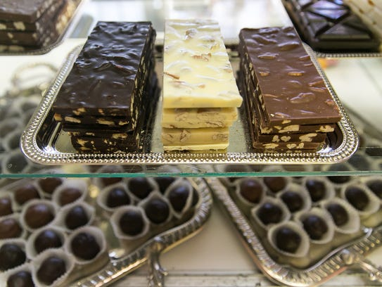 Pictured are various types of chocolates available