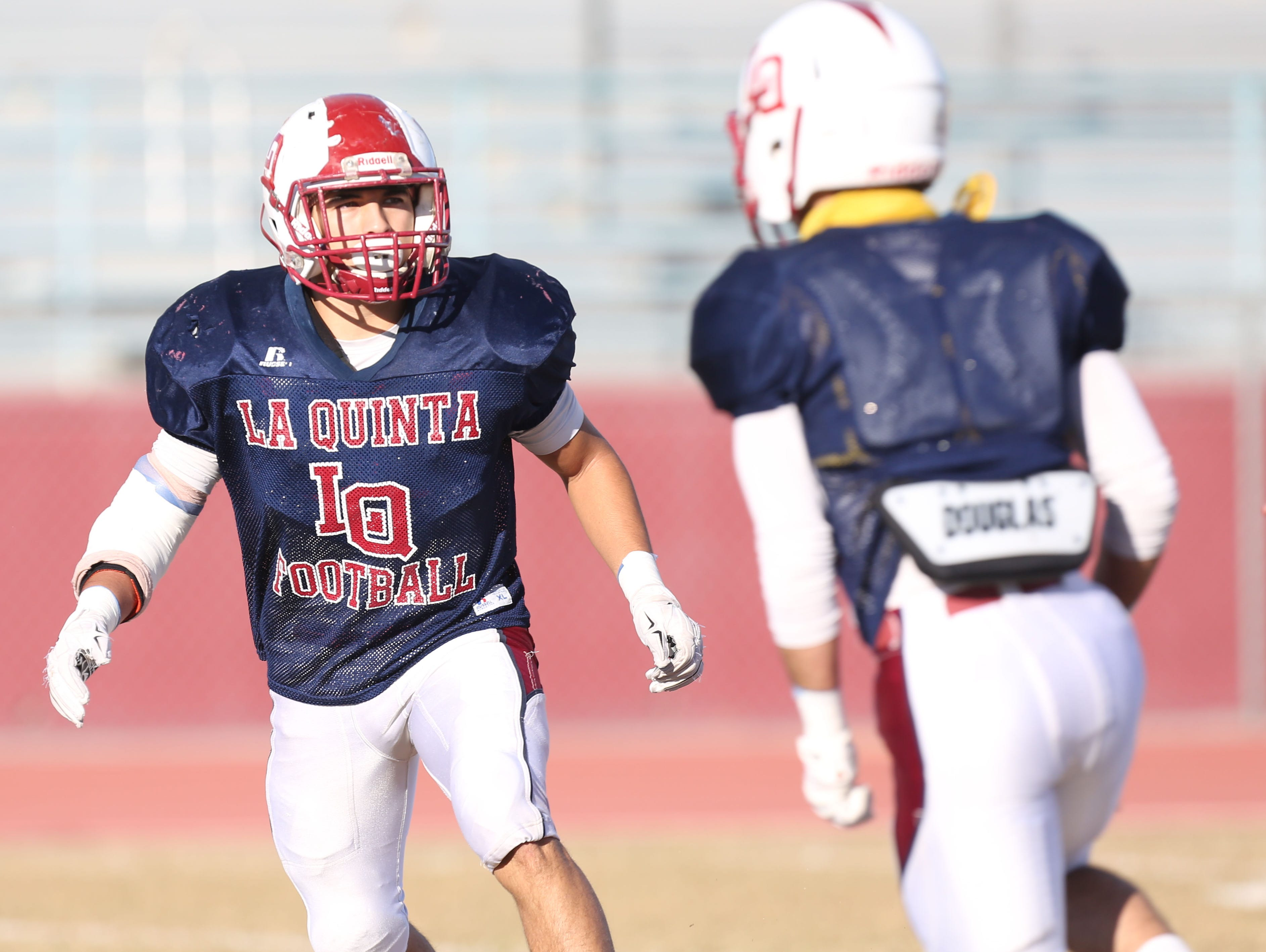 La Quinta High School running back is photographed at his school on November 25, 2015.