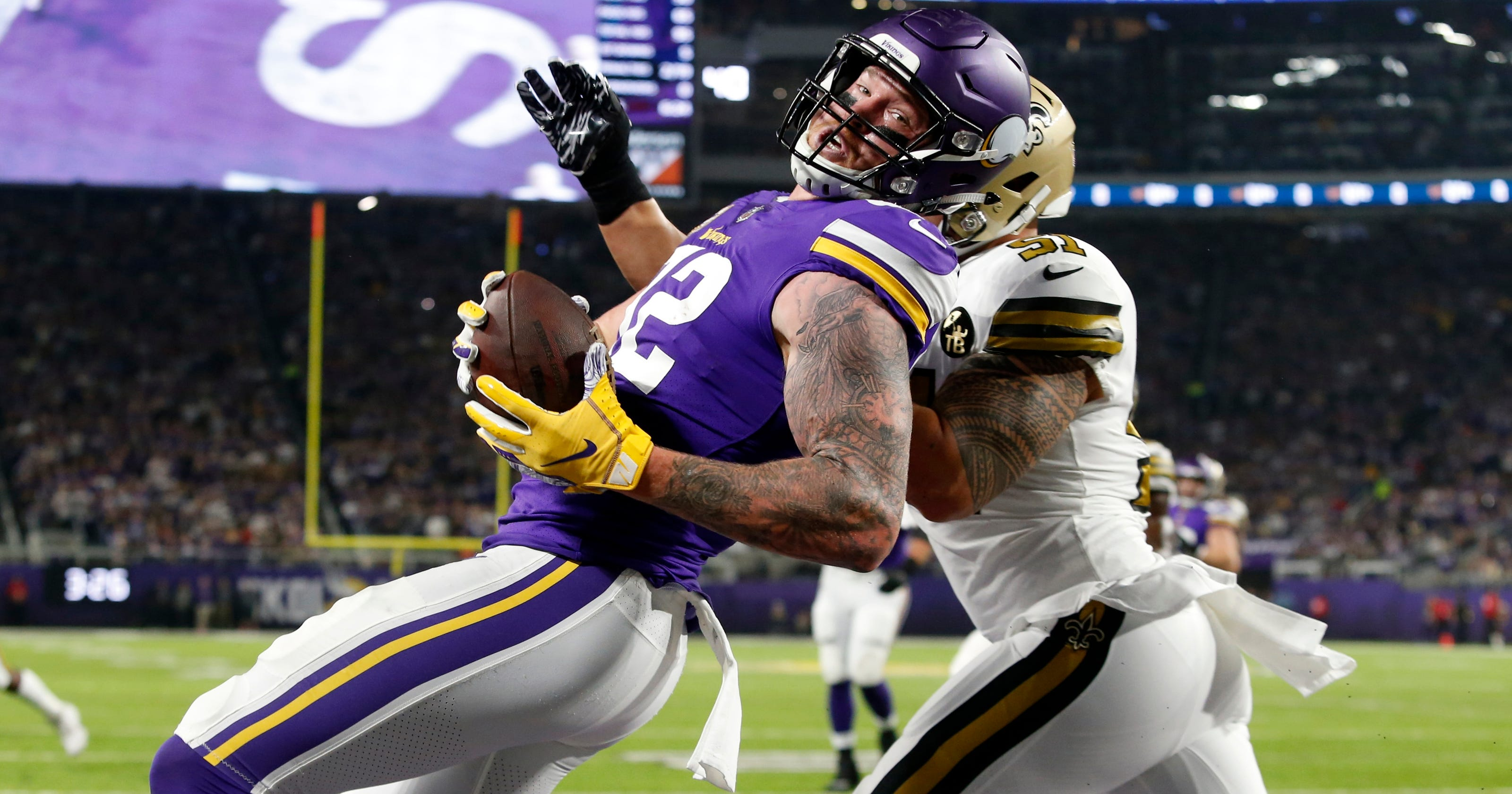 official photos 420d3 ac786 On and off field, Kyle Rudolph keeps giving value to Vikings
