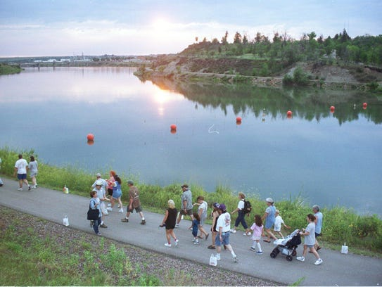 The River's Edge Trail will be lit from Gibson Park