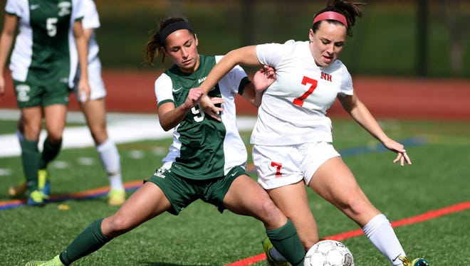 Ramapo senior Bianca Capozzi (left) is one of two captains for the Green Raiders.