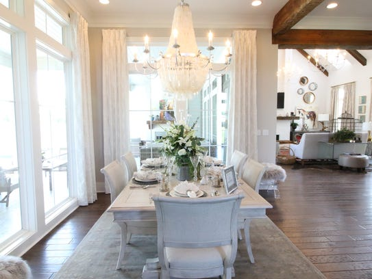 Custom designer touches are featured in every room