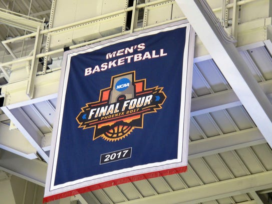 A new banner marking Gonzaga's first trip to the Final