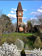 The Carroll Chimes Bell Tower in Goebel Park