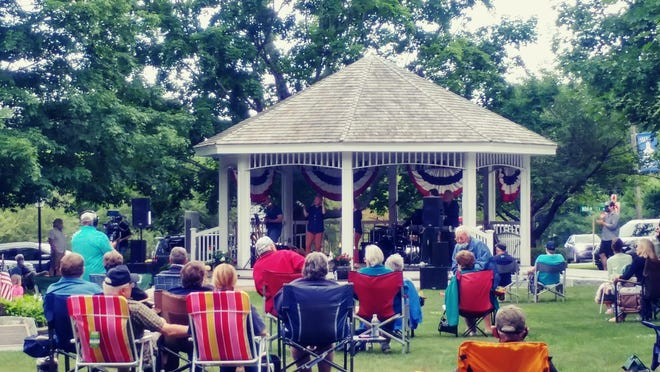 North Hampton kicked off its first bandstand concert of the summer last week with a performance from the Groove Alliance