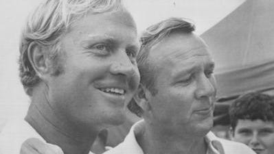Jack Nicklaus and Arnold Palmer are among the golf legends who've hoisted a trophy in the state of Michigan.