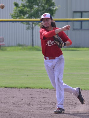 Faulkner baseball signee Jameson Baker, shown playing in a recent MMBL game, was home-schooled.