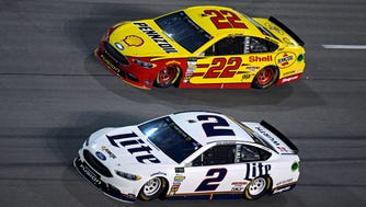 Team Penske drivers Joey Logano (22) and Brad Keselowski (2) have been very strong recently at restrictor-plate tracks.