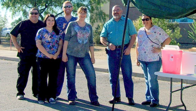 Hidalgo Medical Services provided 262 free flu vaccinations at a drive thru clinic in Lordsburg.