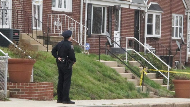 Wilmington police on the scene of an apparent shooting at North Claymont Street and East 23rd Street in Wilmington Tuesday.