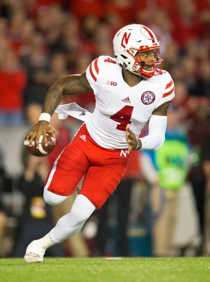 Nebraska Cornhuskers quarterback Tommy Armstrong Jr. during the game against the Wisconsin Badgers.