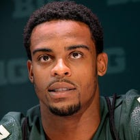 """Demetrious Cox will start at cornerback for the Spartans, but he has the ability to seamlessly switch back to safety at any time. """"If we had someone get dinged, we could put him at safety mid-series, and it wouldn't be a problem,"""" co-defensive coordinator Mike Tressel said."""