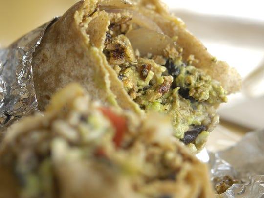 The vegetarian chorizo from Bandit Burrito in Johnston