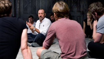 Kevin Spacey teaches 20 actors at The Old Vic in London.