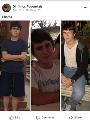 A screenshot is shown from the Facebook social media account of Dimitrios Pagourtzis, who was arrested in a shooting at Santa Fe High School.