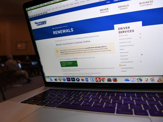 SC DMV Online renewal