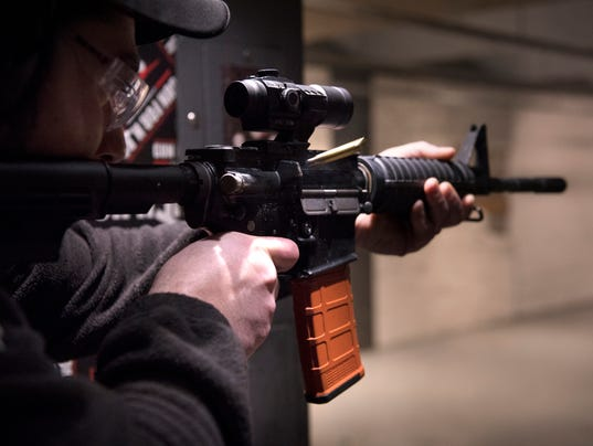 AR 15 style gun