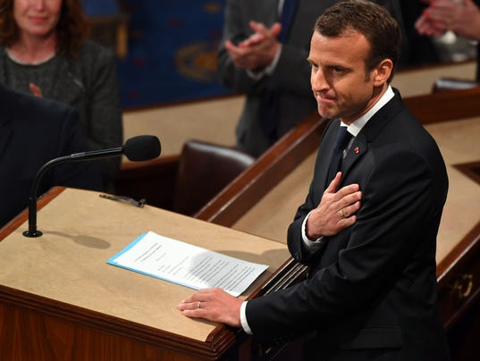 USP NEWS: FRENCH PRESIDENT EMMANUEL MACRON ADDRESS AC USA DC