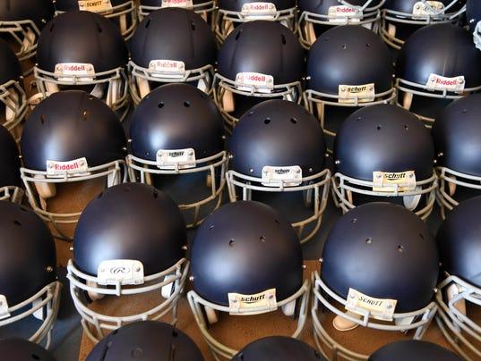 High School Football: Helmets