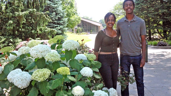 Meklit Minassie (left) and her brother, Nebyou, are international students from Ethiopia who attend the College of Wooster.