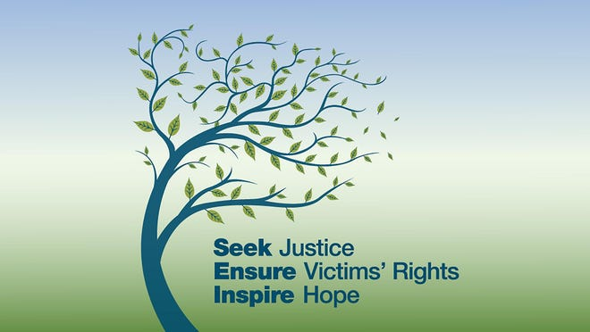Artwork for the Virtual Victims' Grove Ceremony  in honor of  National Crime Victims' Rights Week.