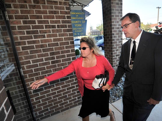 District Justice Jeff Joy arrives for his preliminary hearing on Friday, Sept. 18, 2015. Joy was bound over for trial for a variety of charges including bribery and indecent assault.