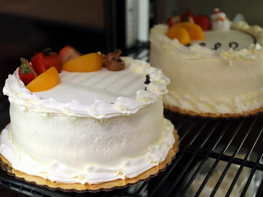 The Tres Leches cakes are pictured at Los Hornitos