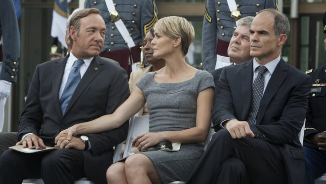 """House of Cards' (starring Kevin Space and Robin Wright) is among original Netflix series driving increased usage of the streaming service."