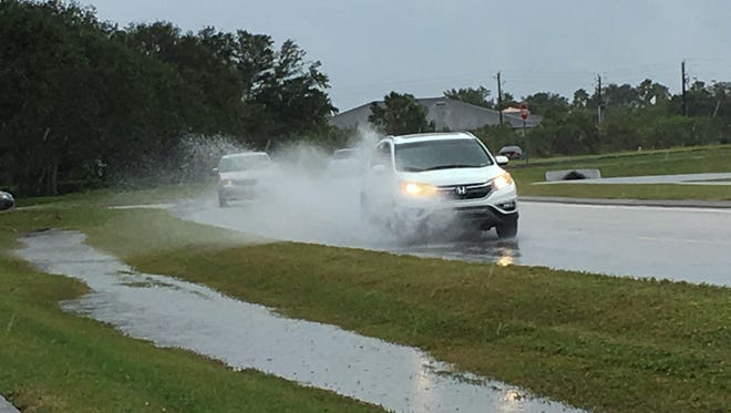 Motorists saw flooded roadways Tuesday morning after Brevard saw localized flooding and rains over two inches in some areas.