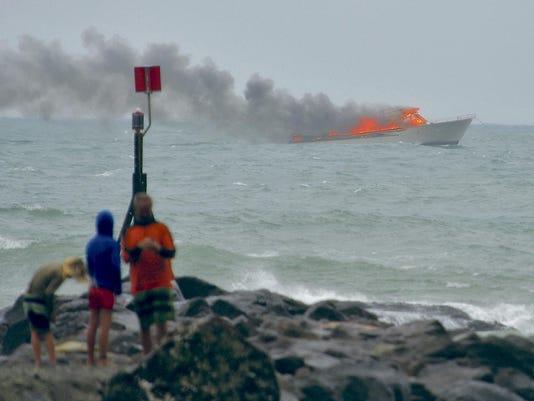 New Zealand Boat Fire