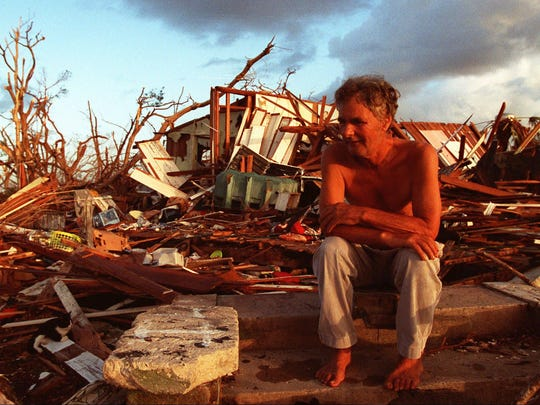 The aftermath of Hurricane Andrew in 1992.