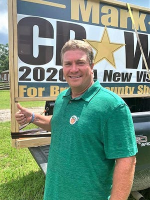 Candidate Mark Crowe says the Sheriff's department needs advanced technology, body cameras, car cameras and new radar units.