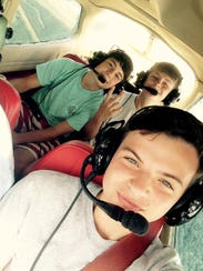 Dylan Gross took this selfie as he was taking flying