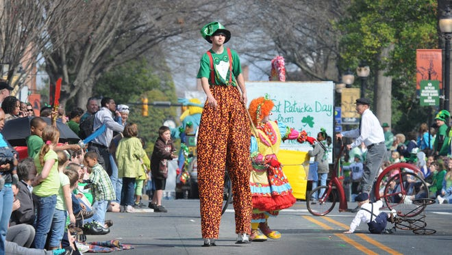Dover's annual St. Patrick's Day parade kicks off at 1 p.m. Saturday.        .