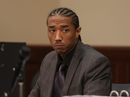 Joseph Graham sits in the courtroom during his trial