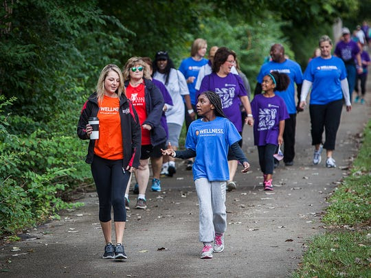 Hundreds participated in the sixth Walk Indiana event at the Cardinal Greenway.