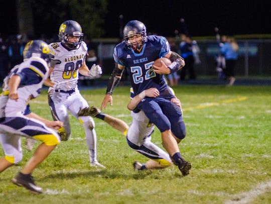 #11 in backAlgonac High School runningback Steven