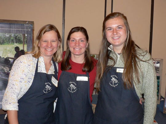 Kristen Kordet, (left) shown with assistants Kate and