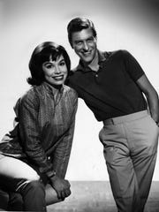 "Dick Van Dyke with Mary Tyler Moore from ""The dick Van Dyke Show"", circa 1961."